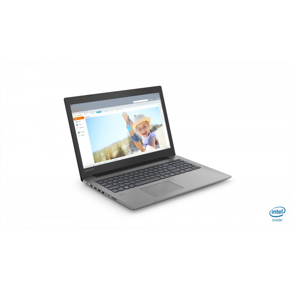 "Lenovo Ideapad 330 - 15.6"" HD, Pentium QuadCore N5000, 4GB, 128GB SSD, DOS - Fekete Laptop Laptop"