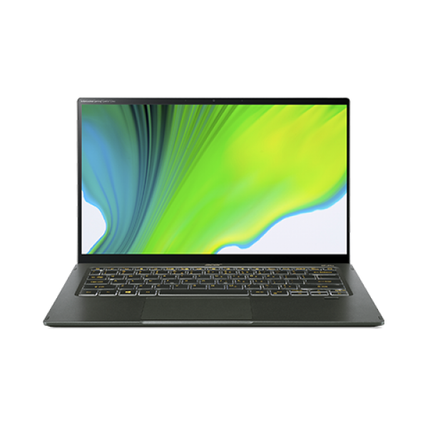 "Acer Swift 5 ( SF514-55GT-53MP) - 14"" FullHD IPS Touch, Core i5-1135G7, 8GB, 512GB SSD, nVidia GeForce MX350 2GB, Microsoft Windows 10 Home- Fátyolzöld Ultrabook 3 év garanciával Hibrid"