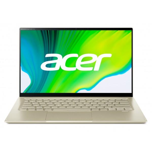 "Acer Swift 5 (SF514-55T-507L) - 14"" FullHD IPS Touch, Core i5-1135G7, 8GB, 512GB SSD, Microsoft Windows 10 Home - Arany Ultrabook 3 év garanciával Hibrid"