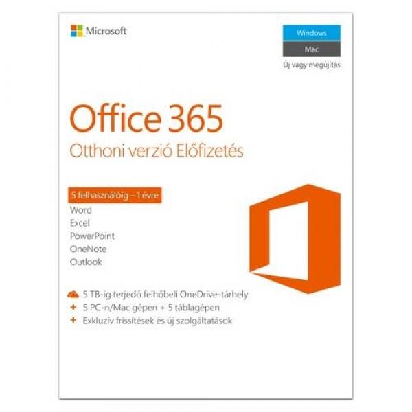 Microsoft Office 365 Otthoni prémium verzió 1Y ESD Kiegészítők