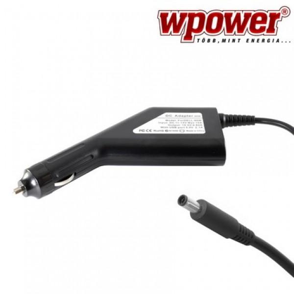 Dell XPS 18 laptop autós töltő 90W + USB2.0