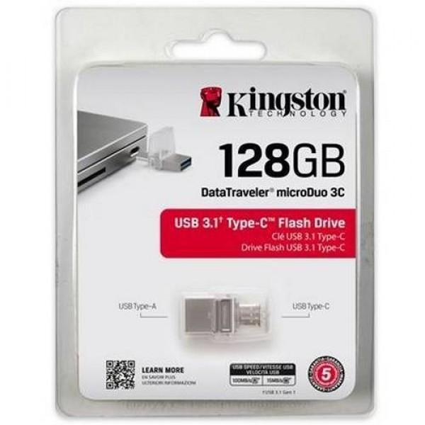 USB Pendrive Kingston 128 GB 3.0 + Type-C (DTDUO03C128GB) Kiegészítők