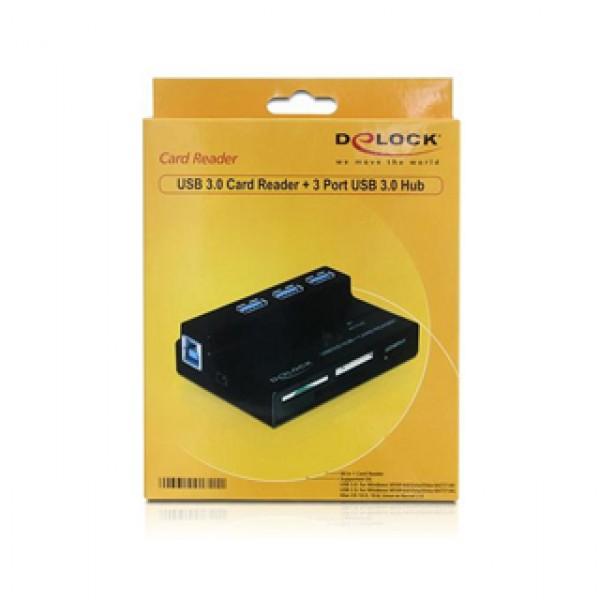 Delock USB CardReader 3 Port USB 3.0 HUB (91721 60in1) Kiegészítők